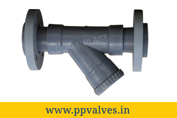 polypropylene y type strainer flanged end
