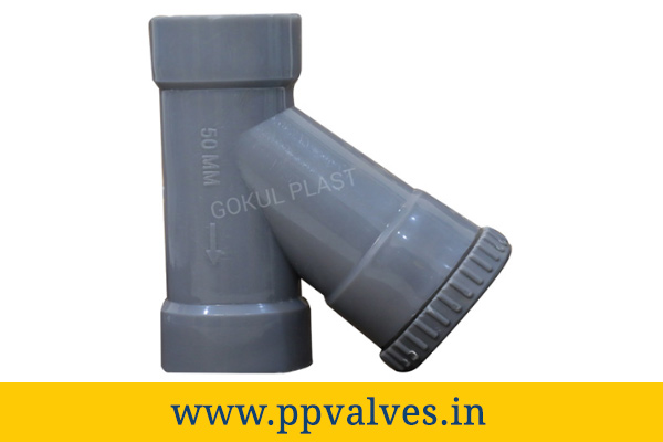pp y type strainer screwed end